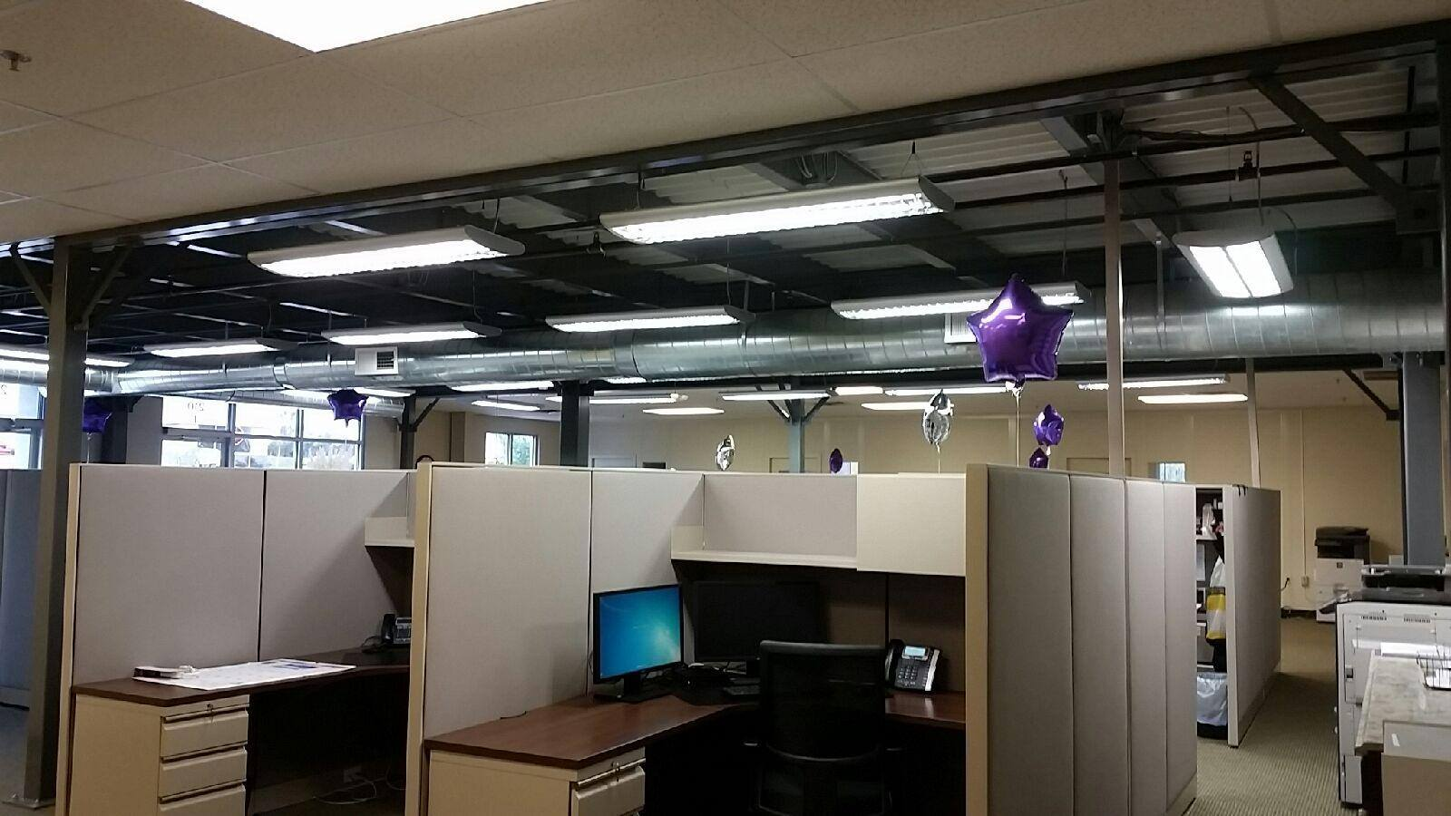commercial electrician - office lighting